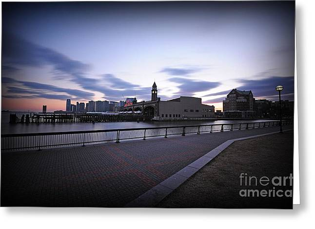 Hoboken Overlooking The Ferry Greeting Card by Paul Ward