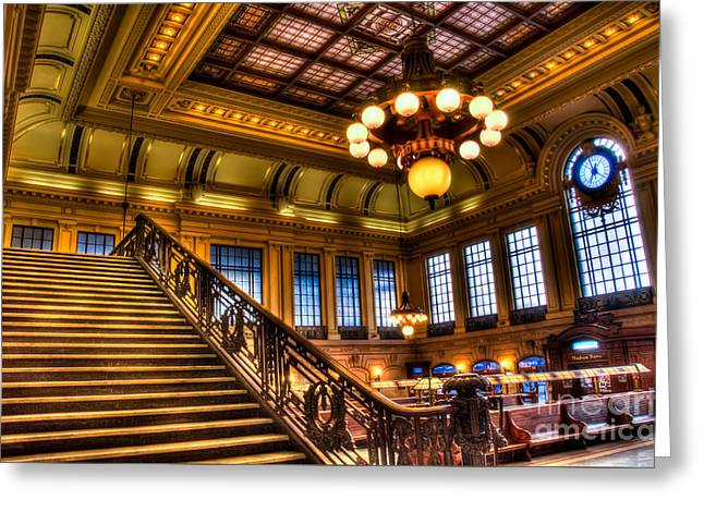 Hoboken Terminal Greeting Card