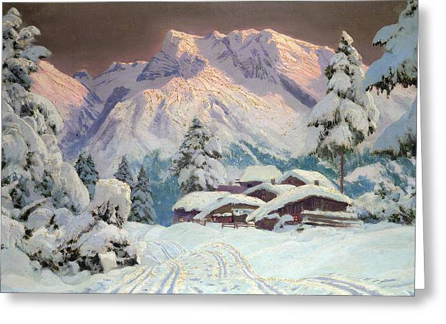 Hocheisgruppe Greeting Card by Alwin Arnegger