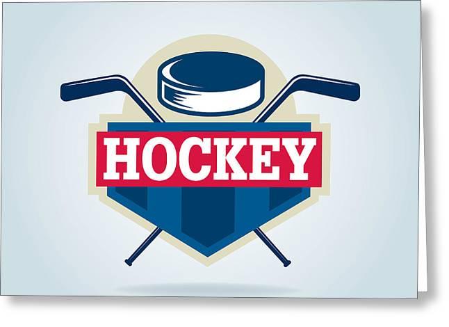 Hockey Logo,sport Greeting Card
