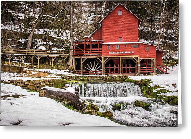 Hodgson Water Mill In Winter Greeting Card