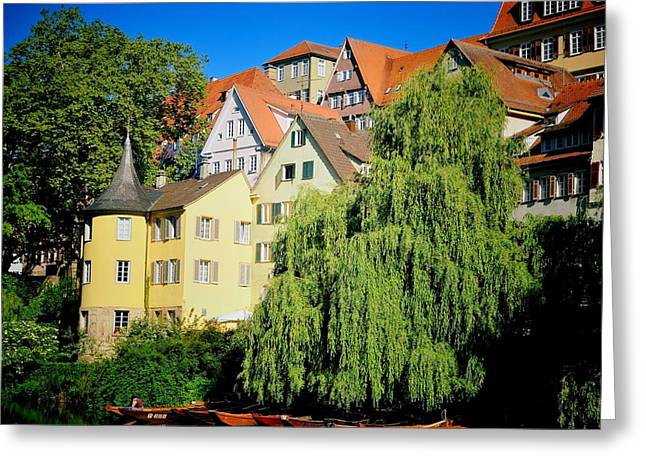 Hoelderlin Tower In Lovely Tuebingen Germany Greeting Card