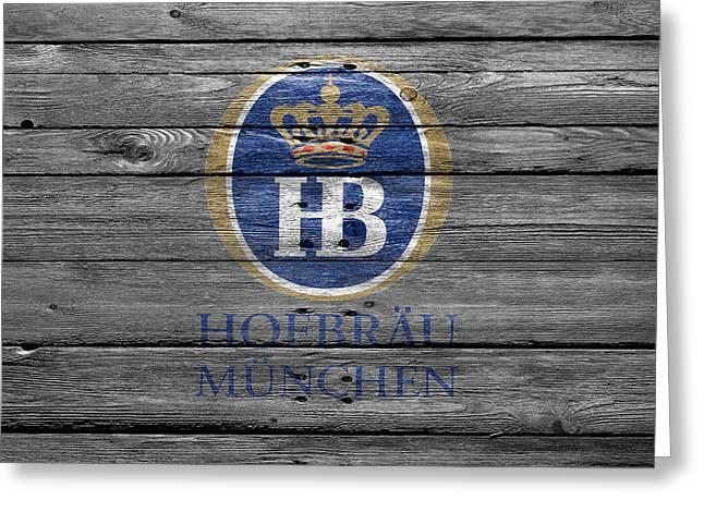 Hofbrau Greeting Card by Joe Hamilton