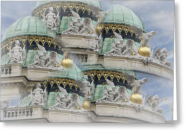 Hofburg Palace Dome Greeting Card by Joan Carroll