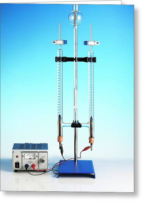 Hoffman Voltameter For Electrolysis Greeting Card