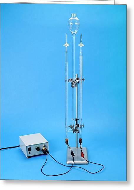 Hofmann Voltameter In Use Greeting Card by Trevor Clifford Photography