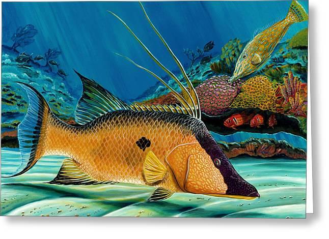 Hog And Filefish Greeting Card