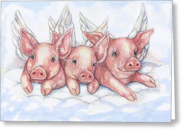 Hog Heaven Greeting Card