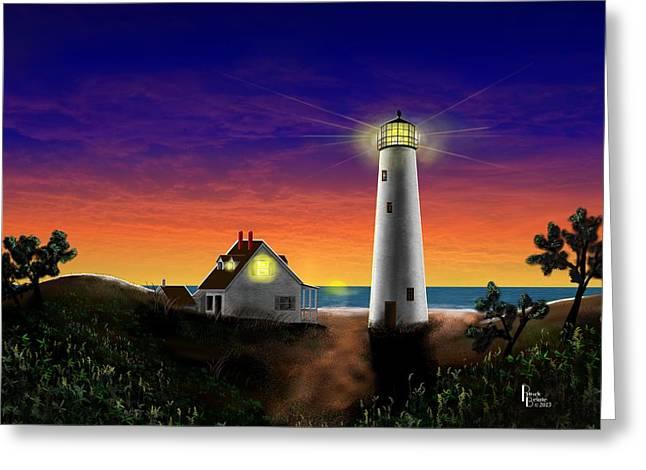 Hog Island Sunrise Greeting Card by Patrick Belote