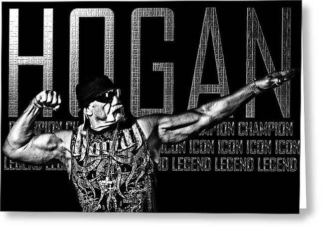 Hogan Tribute By Gbs Greeting Card by Anibal Diaz