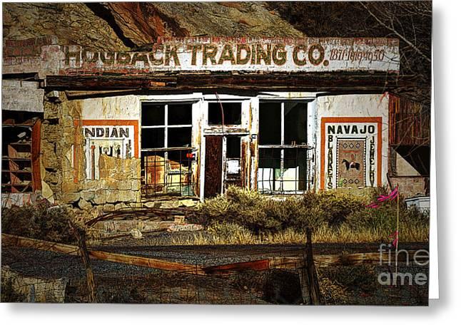 Hogback Trading Company Greeting Card by Bob Christopher