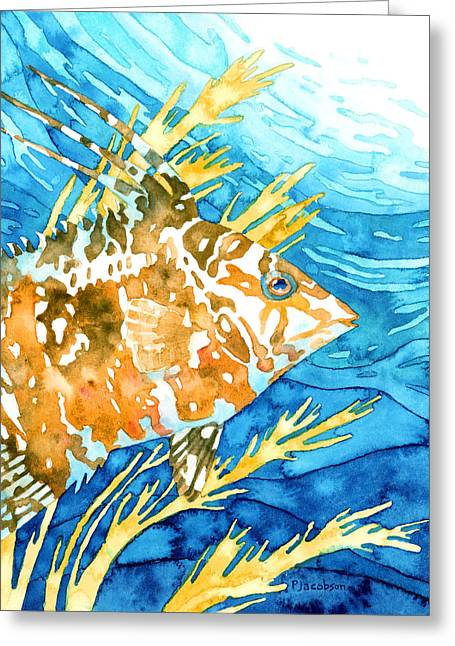 Hogfish Portrait Greeting Card