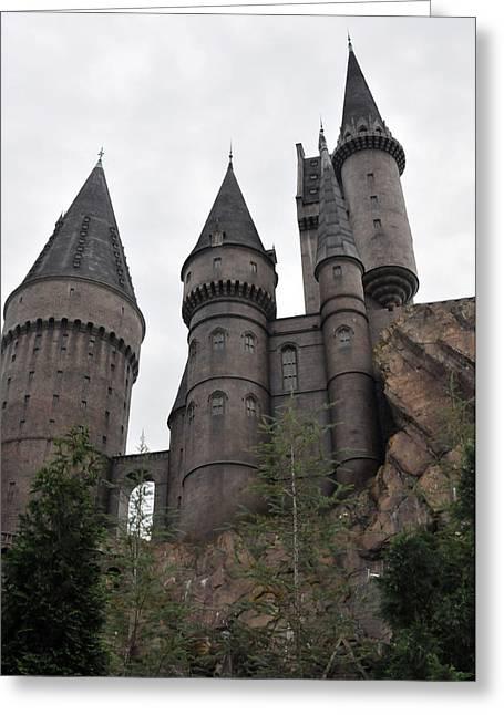 Hogwarts Below Greeting Card by Rebecca Parker