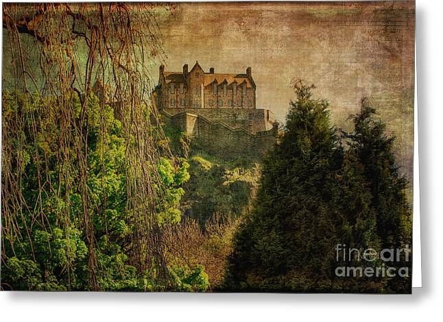 Edinburgh Castle Edinburgh Scotland Greeting Card by Lois Bryan