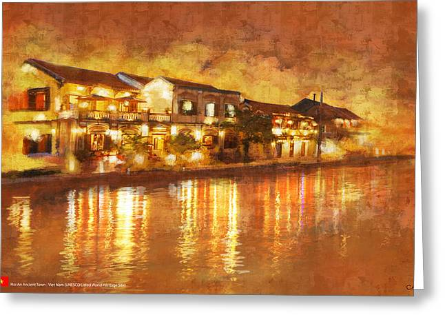 Hoi An Ancient Town Greeting Card by Ctaf