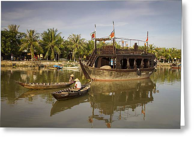 Hoi An River Boats Greeting Card