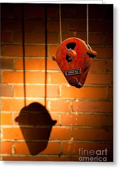 Hoist For Lifting Heavy Weight Greeting Card by Dirk Ercken