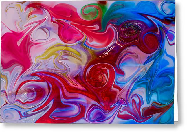 Hold My Love In The Palm Of Your Hand Greeting Card by Omaste Witkowski