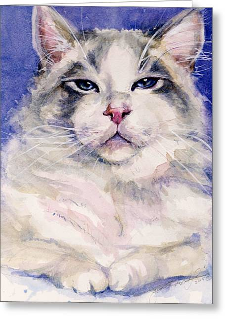 Holding Court Greeting Card by Judith Levins