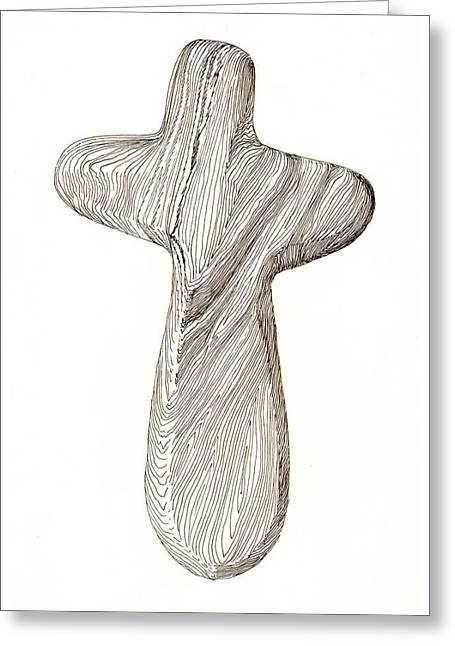 Holding Cross Greeting Card by Jack Pumphrey
