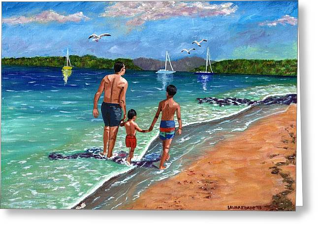 Holding Hands Greeting Card by Laura Forde