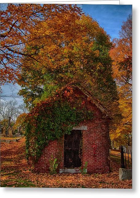 Greeting Card featuring the photograph Holding Up The  Fall Colors by Jeff Folger
