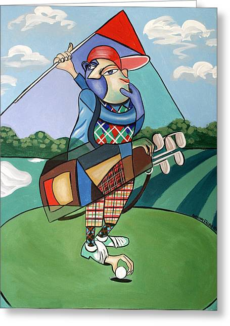 Hole In One Greeting Card by Anthony Falbo