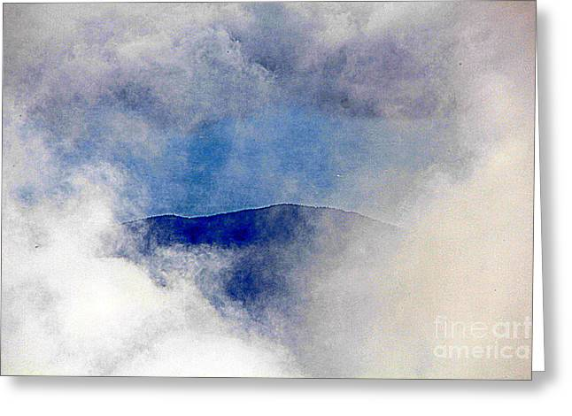 Hole  In The  Clouds Greeting Card