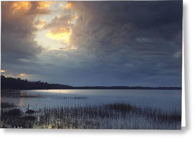 Hole In The Clouds Greeting Card by Phill Doherty