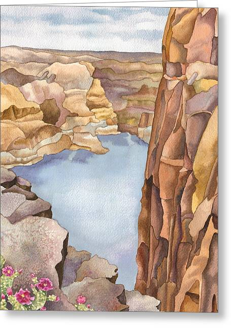Hole In The Rock Greeting Card by Anne Gifford