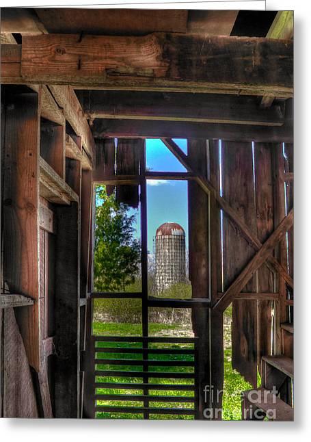 Hole In The Wall 2 Farm Art Greeting Card by Reid Callaway