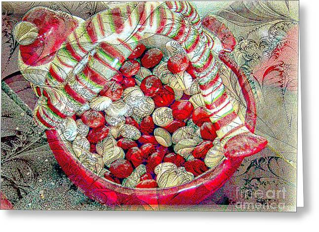 Holiday Candy Greeting Card by Kathleen Struckle