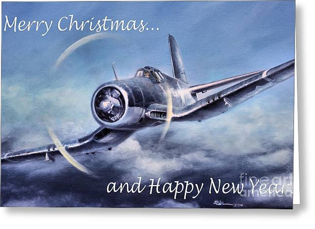 Greeting Card featuring the painting Holiday Card by Stephen Roberson