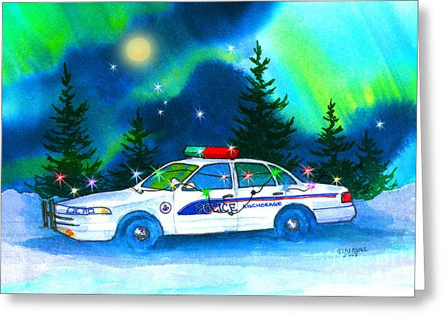 Holiday Cheer For Our First Responders Greeting Card