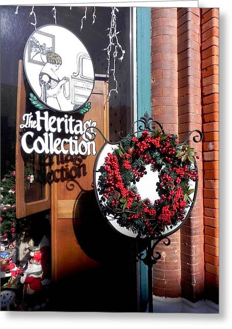 Greeting Card featuring the photograph Holiday Classic by Peggy Stokes