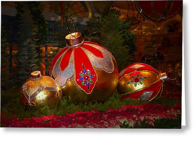 Holiday Decorations Greeting Card by Lucinda Walter