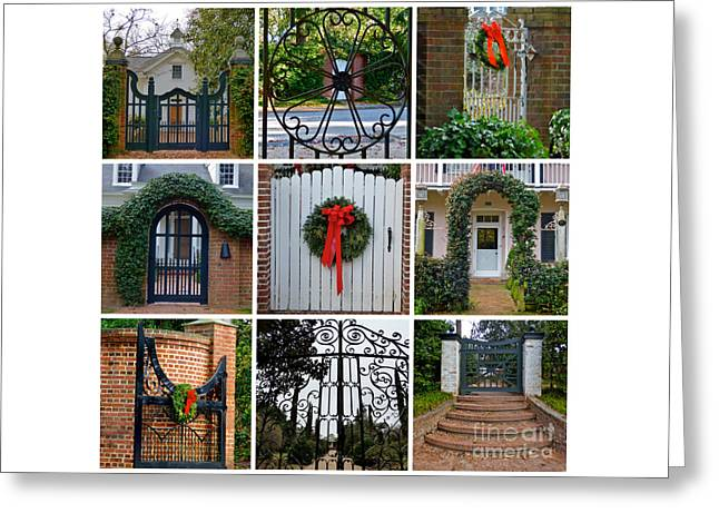 Holiday Gates Of Aiken's Winter Colony Greeting Card