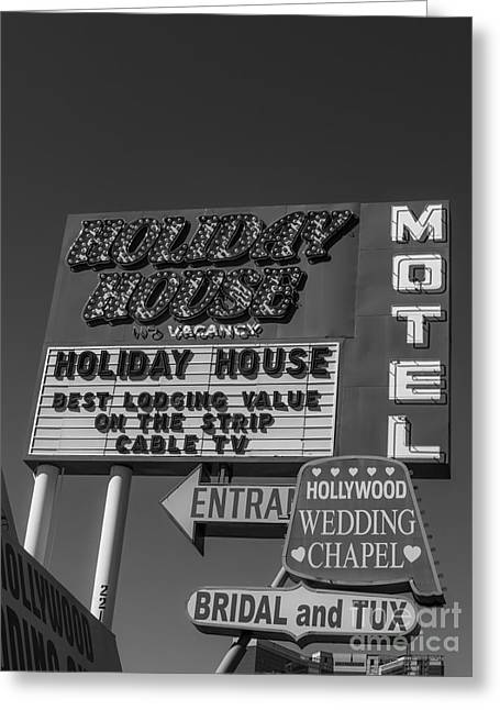 Holiday House Motel Las Vegas 2013 Greeting Card by Edward Fielding