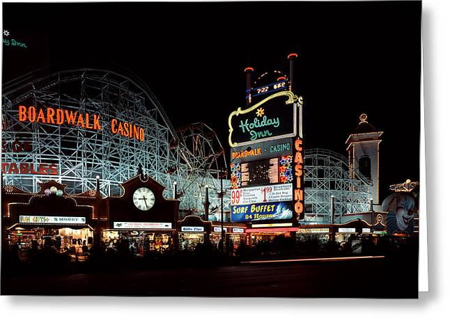 Holiday Inn Boardwalk And Casino Las Vegas Greeting Card by Mountain Dreams