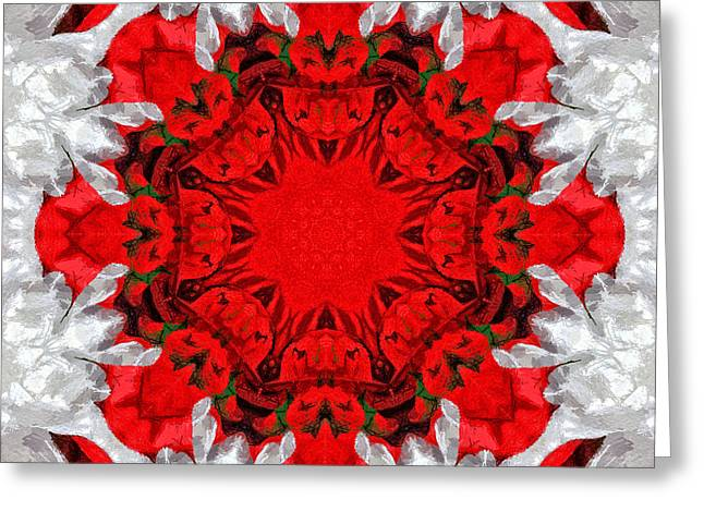 Holiday Kaleidoscope II Greeting Card by Dawn Currie