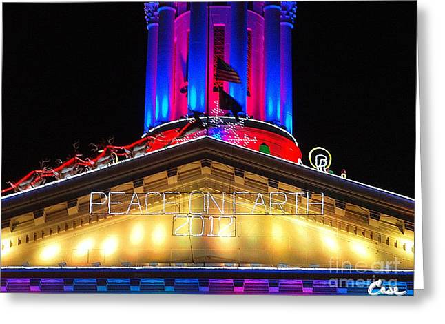Holiday Lights 2012 Denver City And County Building E2 Greeting Card by Feile Case