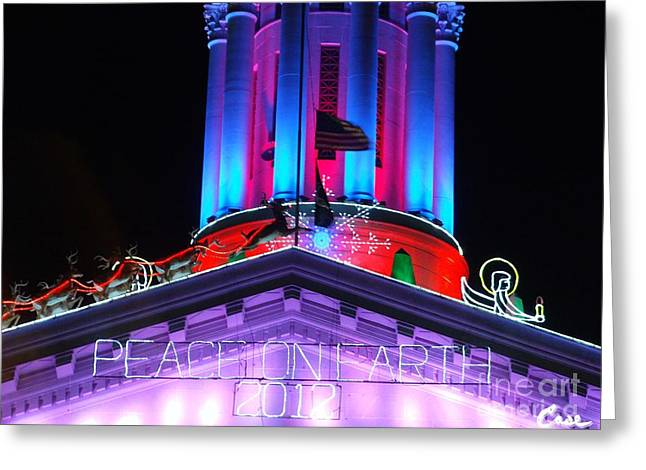 Holiday Lights 2012 Denver City And County Building E4 Greeting Card by Feile Case