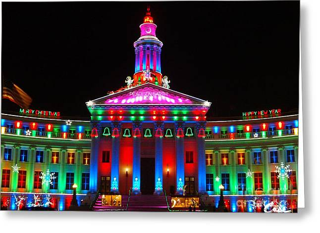 Holiday Lights 2012 Denver City And County Building G5 Greeting Card
