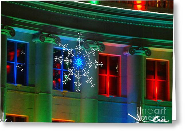 Holiday Lights 2012 Denver City And County Building H1 Greeting Card by Feile Case
