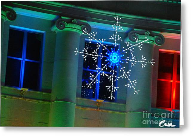 Holiday Lights 2012 Denver City And County Building J1 Greeting Card by Feile Case