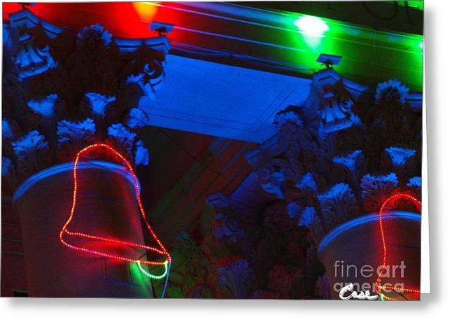 Holiday Lights 2012 Denver City And County Building M3 Greeting Card by Feile Case