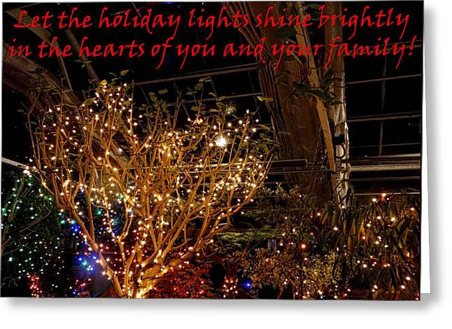 Holiday Lights Greeting Card Greeting Card by Gena Weiser