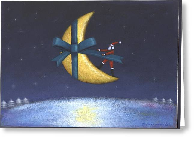 Holiday Moon Greeting Card by Steve Dininno