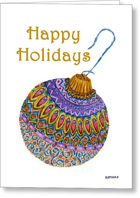 Holiday Ornament Greeting Card by Debra Spinks