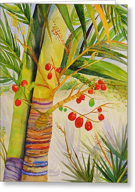 Holiday Palm Greeting Card